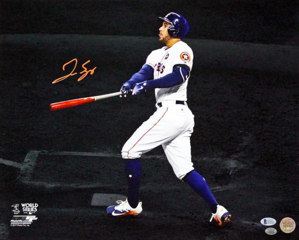 George Springer Autographed Signed 16x20 World Series Spotlight Photo