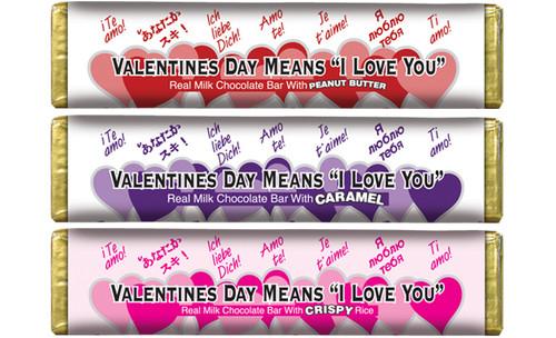 Valentines Chocolate Bars Carton