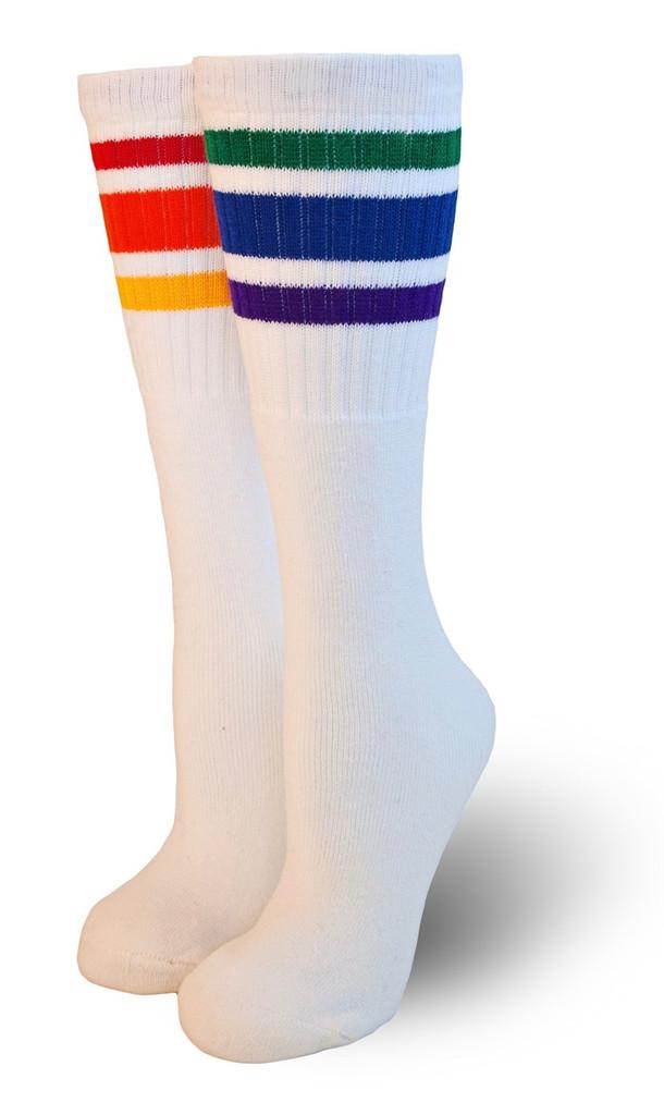 children mismatch rainbow tube socks