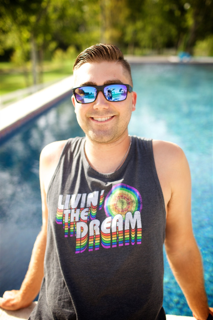 stay cool and happy with your pride socks living the dream vintage tank