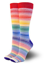 classic rainbow knee high rainbow sock