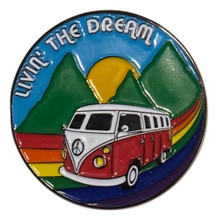 Show off your road trip adventures while sporting your road trip pride socks enamel pin