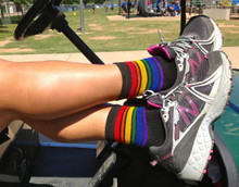 wear your pride socks when you are golfing