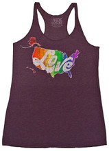 love heals in your soft pride socks womens tank