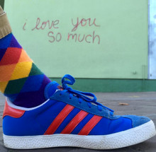 i love you so much south congress.  so much love for you when i wear my rainbow casual argyle pride socks in austin, tx