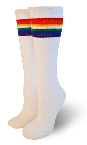 love over the knee adult pride socks