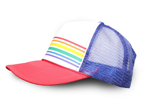 Red/Blue Thin Retro Trucker Hat