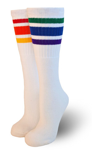 mismatch over the knee adult pride tube socks
