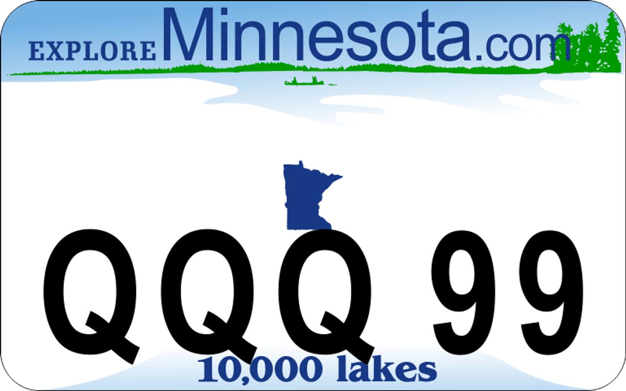Minnesota Atv Or Utv Custome License Plate Digital Crayon
