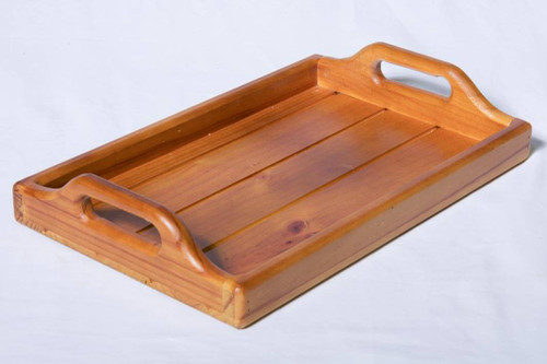 Serving Tray Wooden With Carry Handles Fabian Woodworks