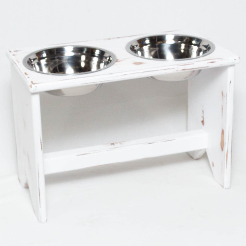 elevated dog bowl stand 2 bowls 350 mm tall fabian. Black Bedroom Furniture Sets. Home Design Ideas