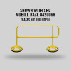 MOBILE FINISH SAFETY RAIL - 8FT - YELLOW