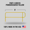 MOBILE FINISH SAFETY RAIL - 9FT - YELLOW