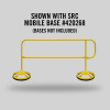 MOBILE FINISH SAFETY RAIL - 9FT - GALV & YELLOW