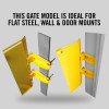 "Self-Closing Gate For Flat Bar or Wall Mount 33-39"" (Safety Yellow)"