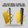 "Self-Closing Gate for Square or Round Post Mount 23-29"" (Safety Yellow)"