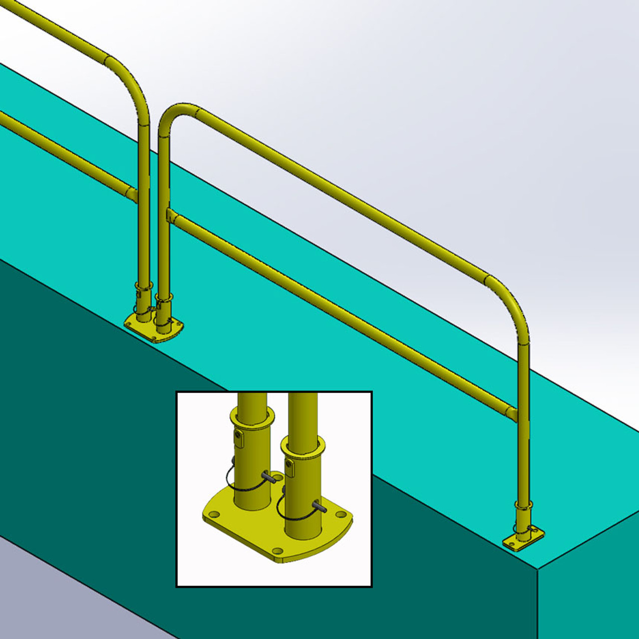 guardrail systems removable railing removable guardrails