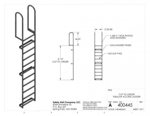 SRC - Fixed Access Ladder (cut to required length)