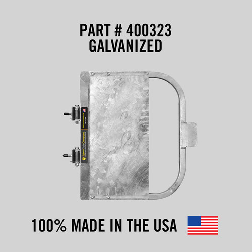 """Self-Closing Gate For Flat Bar or Wall Mount 19-25"""" (Galvanized)"""