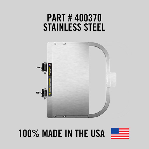 """Self-Closing Gate for Square or Round Post Mount 23-29"""" (Stainless Steel)"""