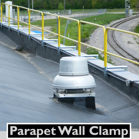 Src Parapet Wall Clamp On Railing System Safety Rail