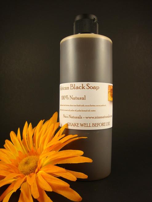 100% NATURAL RAW LIQUID AFRICAN BLACK SOAP 16OZ FREE SHIPPING