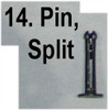 14: PIN, split, bush, axis side levers