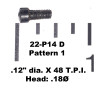 "22: SCREW, .12"" dia. X 48 T.P.I. - Pattern 1"