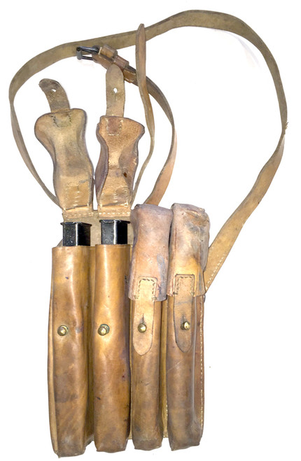 Four (4)  British Sten Mags (32 rd) with Yugo SMG Pouch