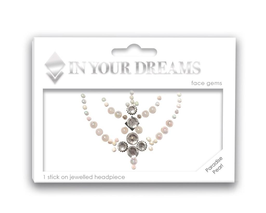 Paradise Pearl, Jeweled Headpiece, Face Gem