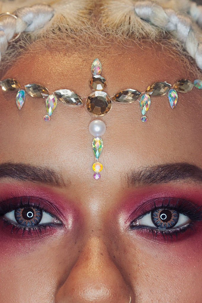 Desert Dusk, Jewelled Headpiece