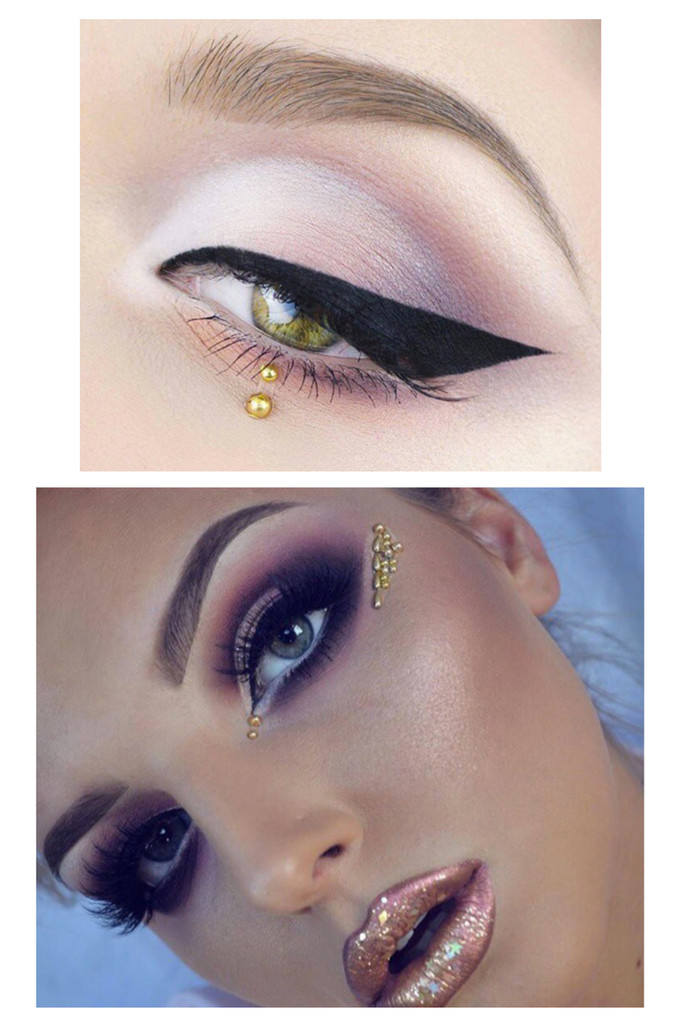 Gold Sphinx, Eye Jewels 'As seen on Makeup Artist Bloggers Pennold and Maisy Reiser'