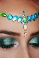 Blue Ariel, Shell Jewelled Headpiece
