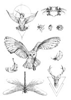 Free and Fearless, Black Temporary Tattoos