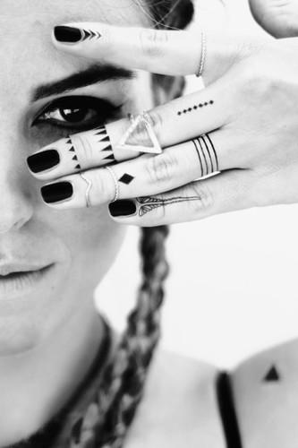 Brave and Beautiful Black Temporary Tattoos