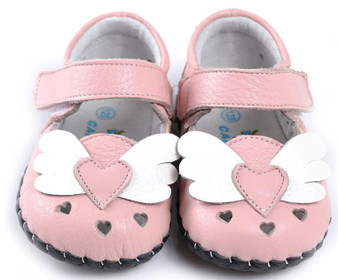 """Caroch """"Angel"""" Pink Leather Soft Sole Shoes"""