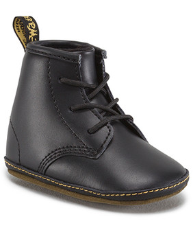 "Dr Martens ""Auburn"" Black Leather Baby Soft Sole Boots"