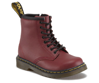Dr Martens Brooklee Softy T Cherry Red Leather Boots