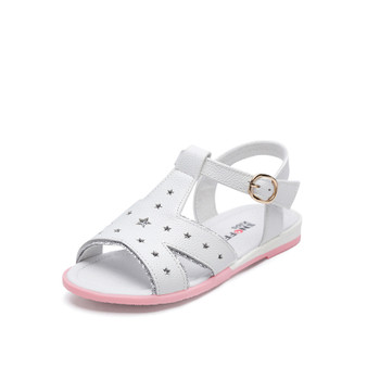 """Snoffy """"Twinkle"""" White Leather Sandals"""