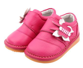 """Freycoo """"Molly"""" Hot Pink Leather Shoes"""