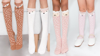 From left to right: Fox Caramel, Fox White, Sheep Pink, Fox Pink