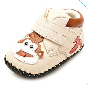"""YXY """"Lil Monkey"""" Cream Soft Sole Leather Boots"""