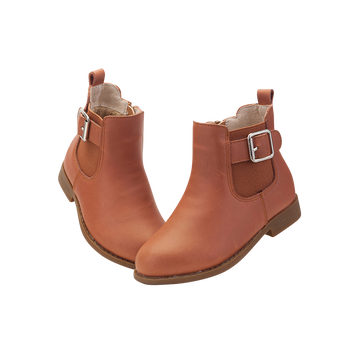 """TS """"Flo"""" Caramel Leather Ankle Boots"""