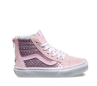 Vans Girls SK-8 Metallic Heart Pink  Kids Shoes US5 only
