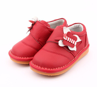 """Freycoo """"Molly"""" Red Leather Shoes"""