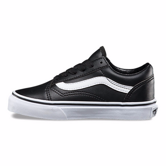 Vans Old Skool  Black Leather Kids Shoes US11 only