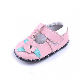 "Caroch ""Simplicity""Pink Leather Soft Sole Shoes"