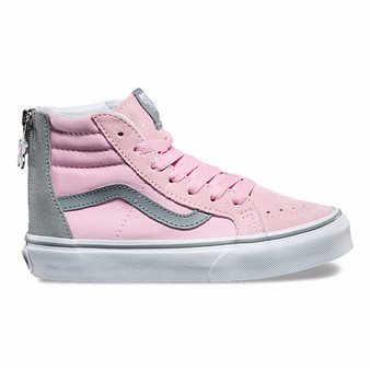 Vans SK8-HI Flower Pink Mist Girls High Tops US 12 only