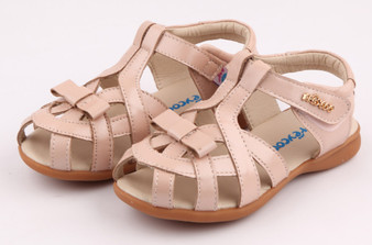 """Freycoo """"Tilly"""" pink leather girls sandals"""