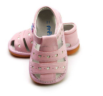 """Pre Order Freycoo """"Lucy"""" Girls Pink Leather Sandals"""